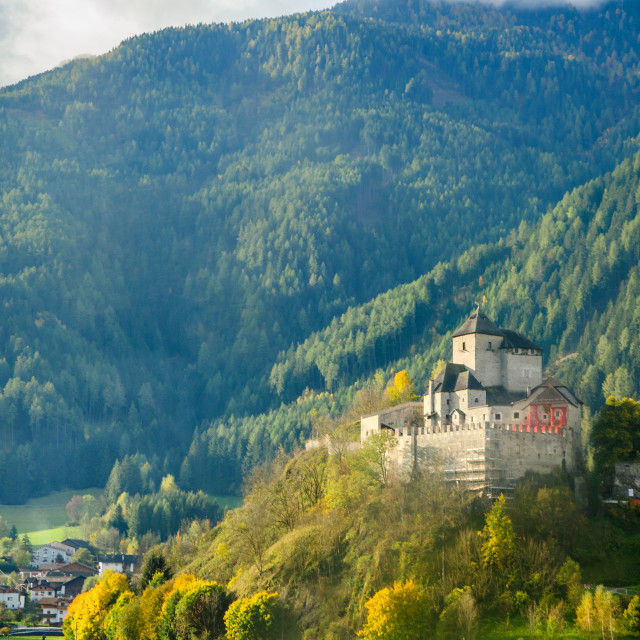 """""""Castle In The Mountains"""" stock image"""