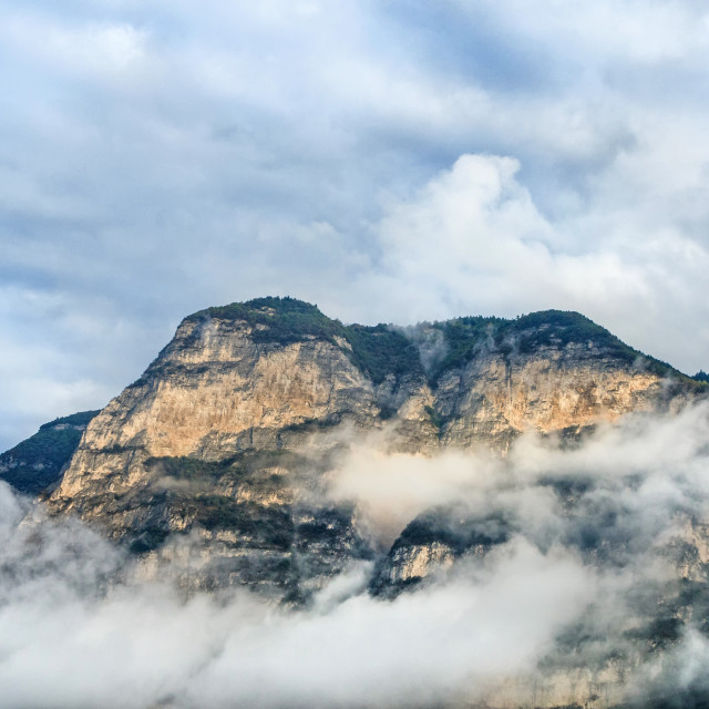 """""""Mountains in Clouds"""" stock image"""