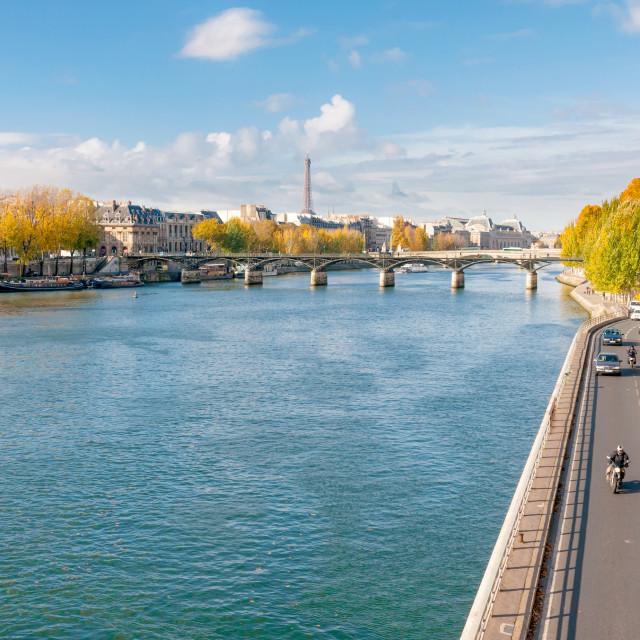 """""""The Seine in Paris"""" stock image"""