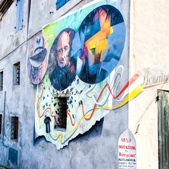 """Mural Painting in Saludecio"" stock image"