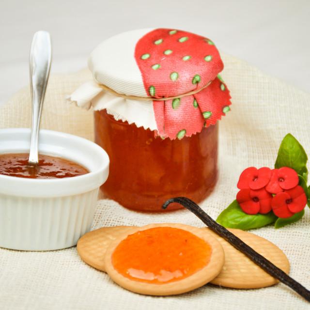 """Watermelon & Vanilla marmalade"" stock image"