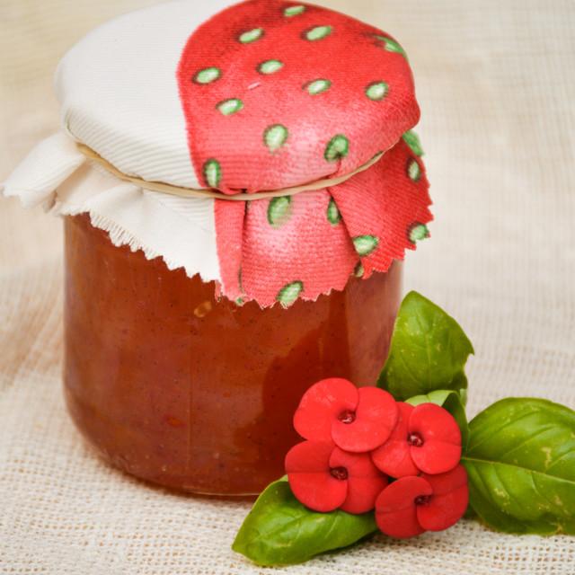 """Watermelon & Strawberry marmalade"" stock image"