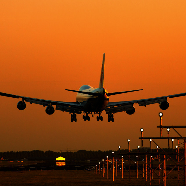 """Sunset Landing"" stock image"