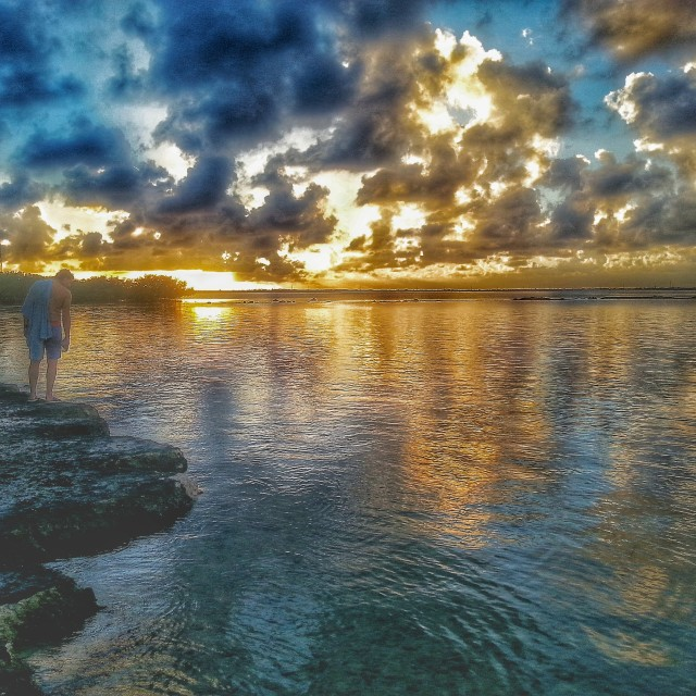 """""""Burning Sunset"""" stock image"""