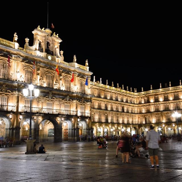 """Plaza Mayor of Salamanca in Spain."" stock image"
