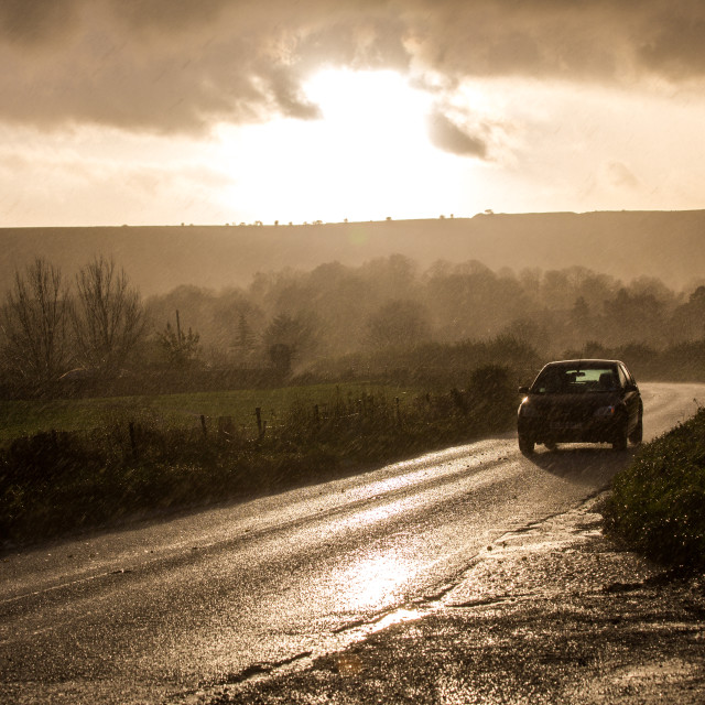 """""""Storm Road"""" stock image"""