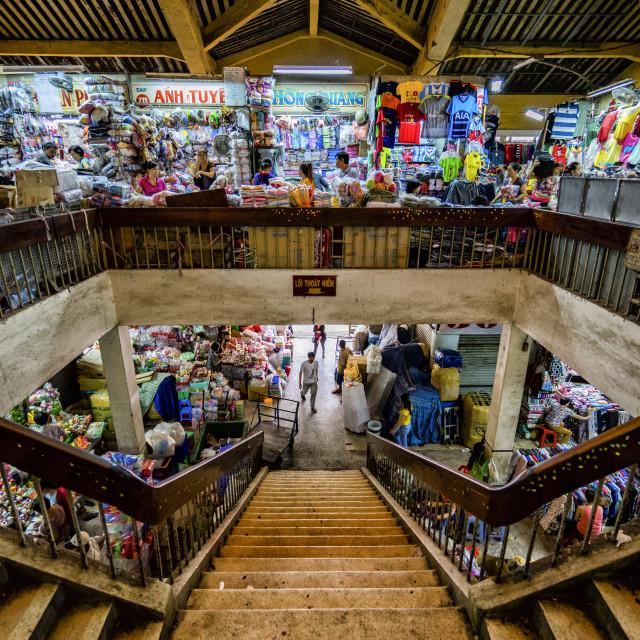 """Bình Tây Market"" stock image"