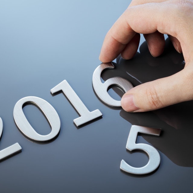 """New year 2016"" stock image"