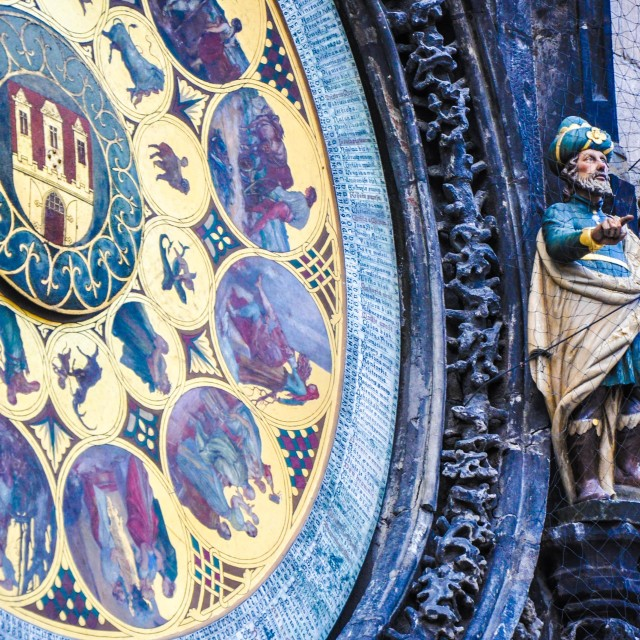 """Astronomical clock"" stock image"