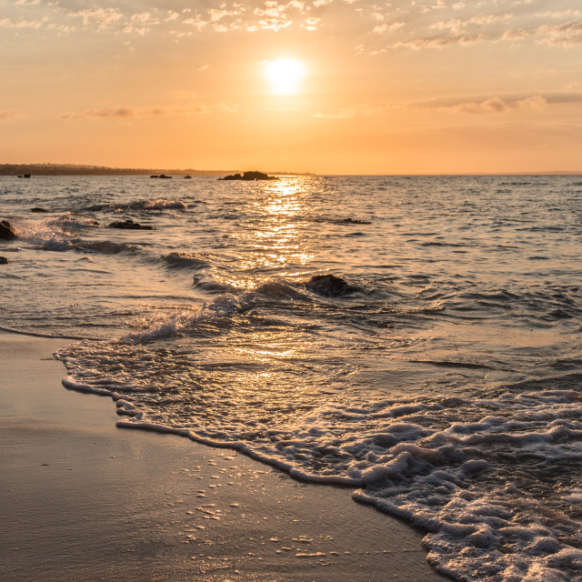 """""""Sunset over Indian Ocean 3"""" stock image"""
