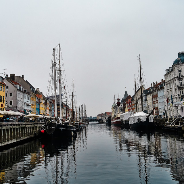 """The Harbour at Nyhavn"" stock image"