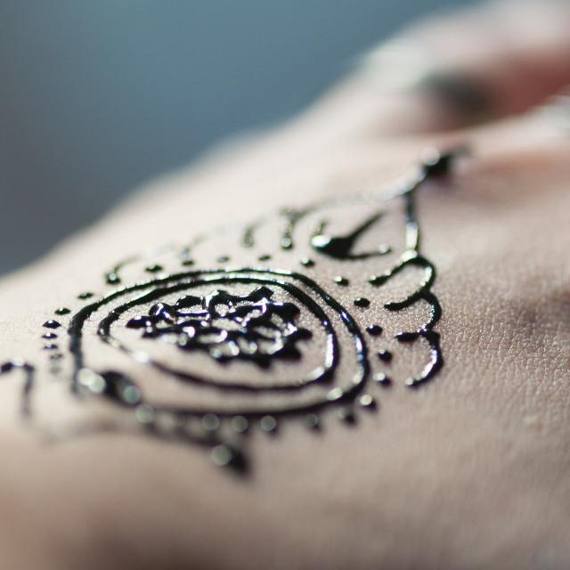 """""""Henna hand tattoo"""" stock image"""