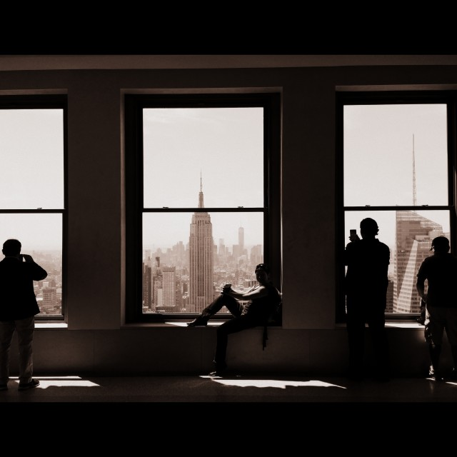 """View on Empire State Building"" stock image"