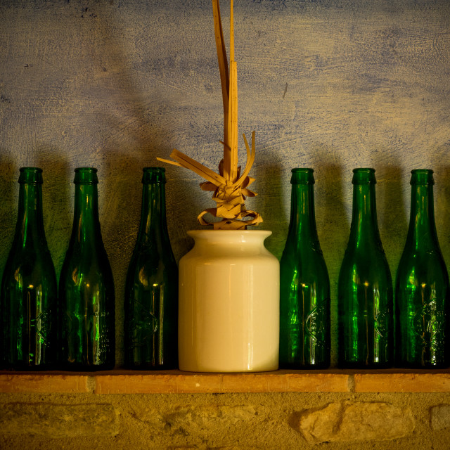 """green bottles"" stock image"