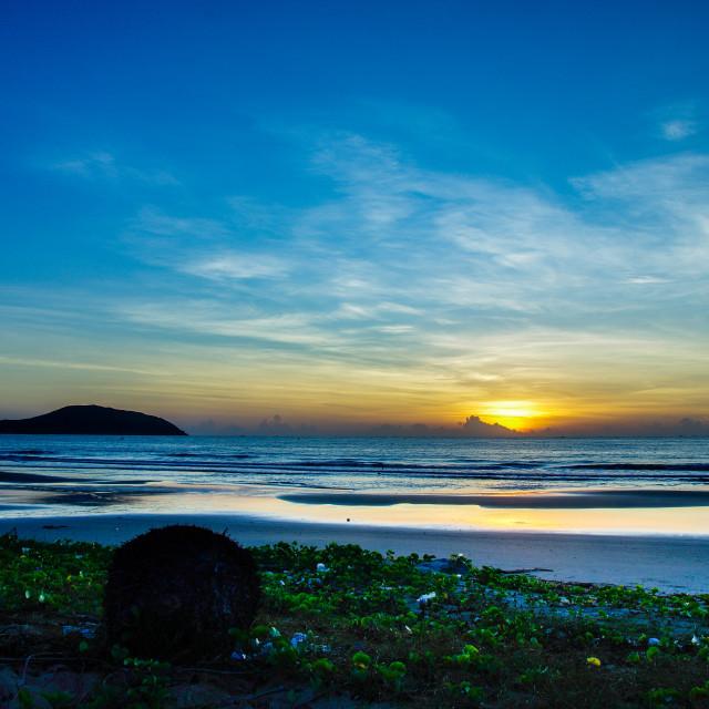 """A dawn at Sandunes beach resort"" stock image"