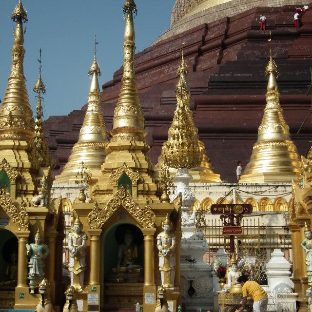 """""""Shwedagon, Myanmar"""" stock image"""