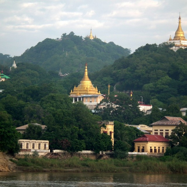 """From the river bank en route to Mandalay"" stock image"