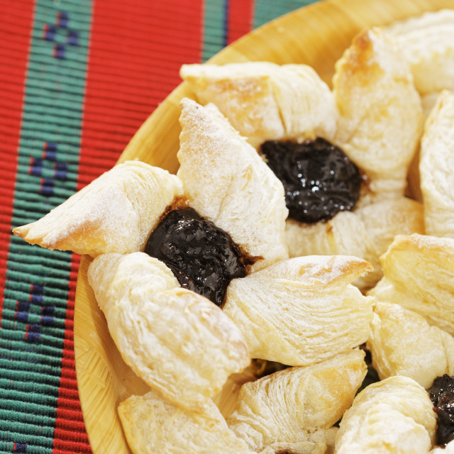 """Finnish christmas puff pastries"" stock image"