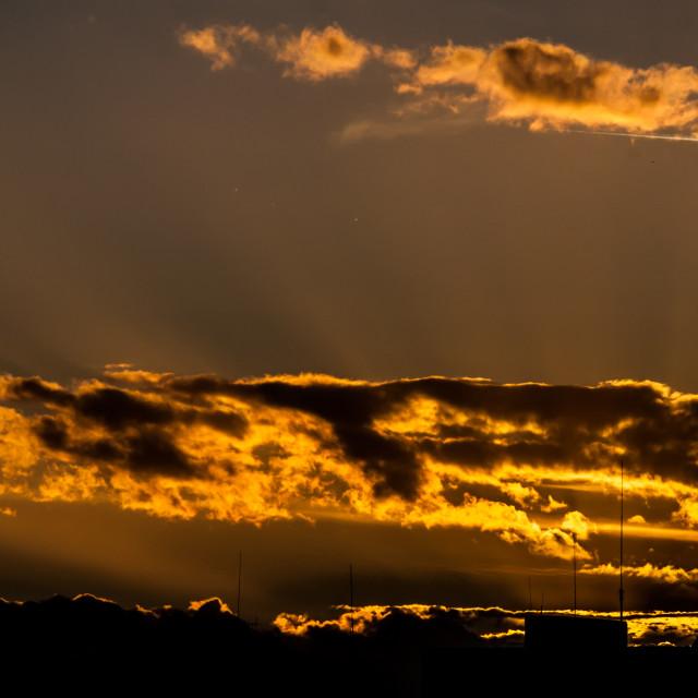 """""""Antennas at dusk 2"""" stock image"""