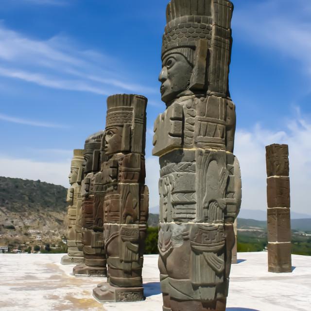 """Toltec sculptures"" stock image"