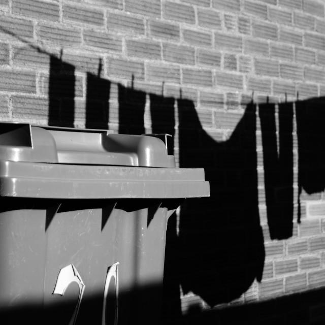 """""""Shadows and Bins"""" stock image"""