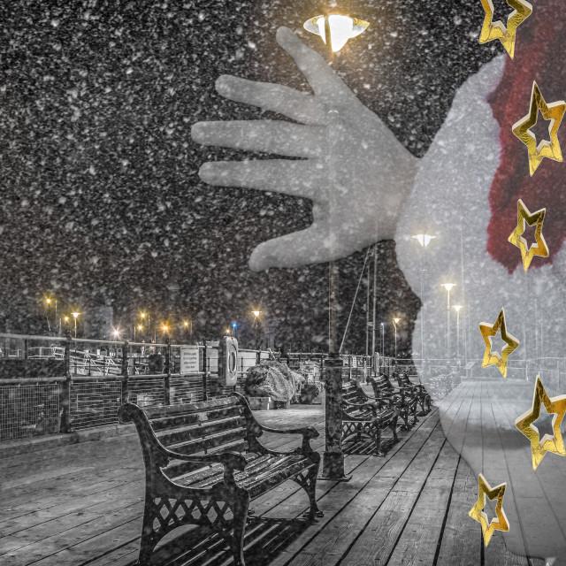 """Halfpenny Pier Festive Christmas Design"" stock image"