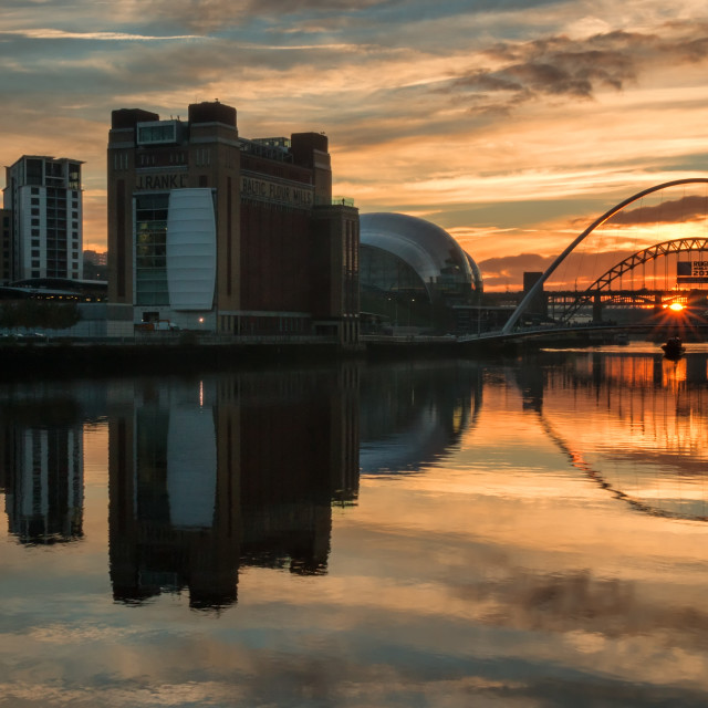 """Tyne Reflections"" stock image"