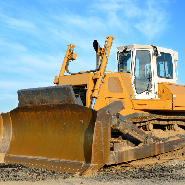 """Bulldozer"" stock image"