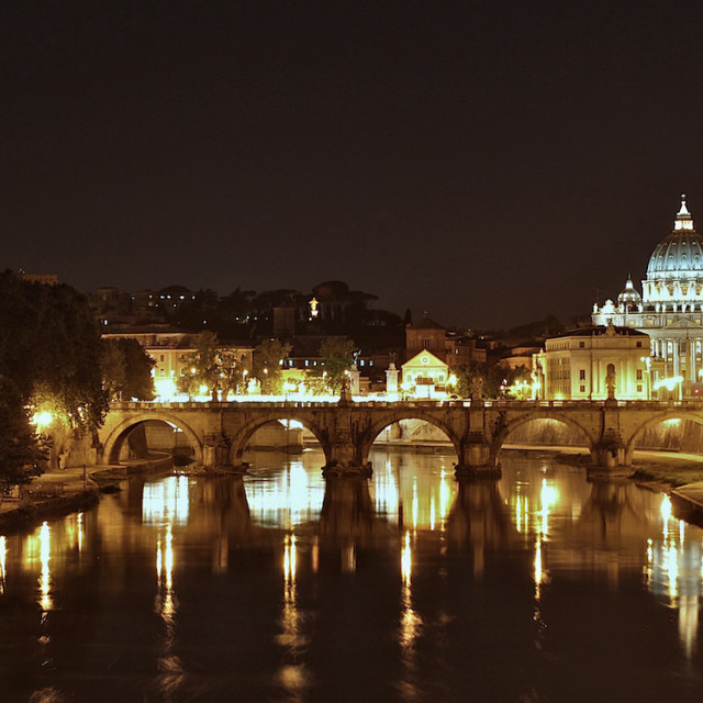"""Tiber at Night"" stock image"