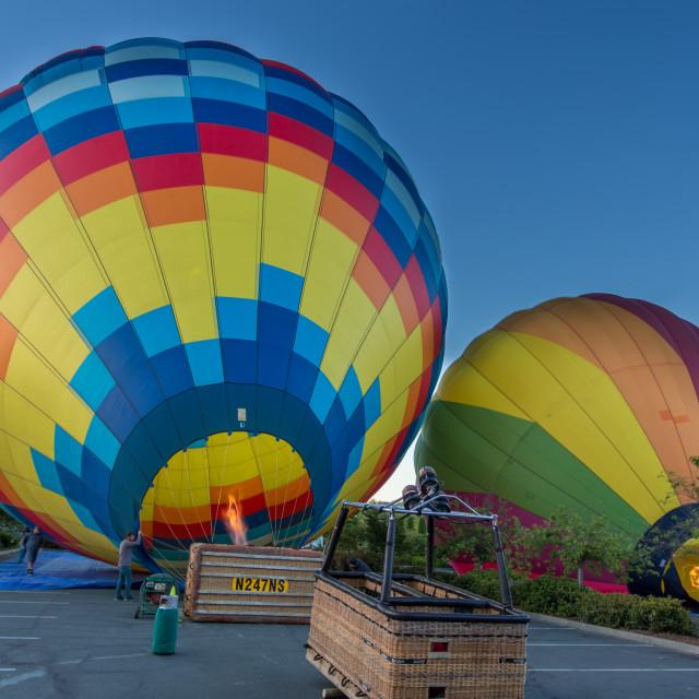 """""""Balloon take-off Napa"""" stock image"""