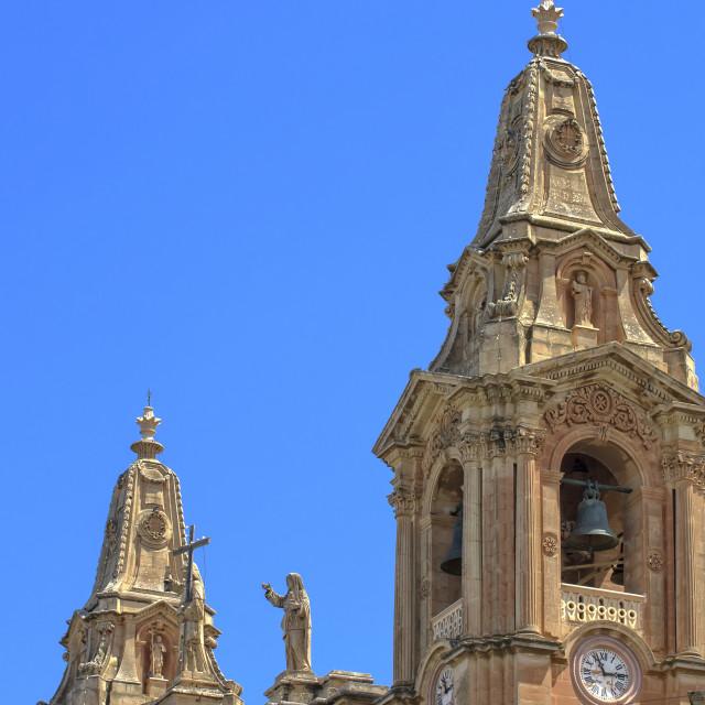 """Naxxar church"" stock image"