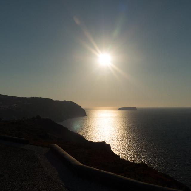 """Santorini Caldera sunset"" stock image"