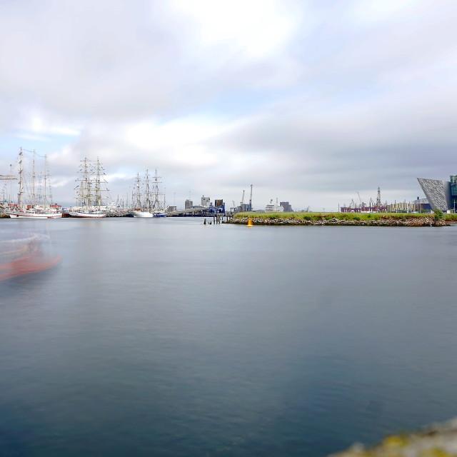 """""""Belfast Harbor"""" stock image"""