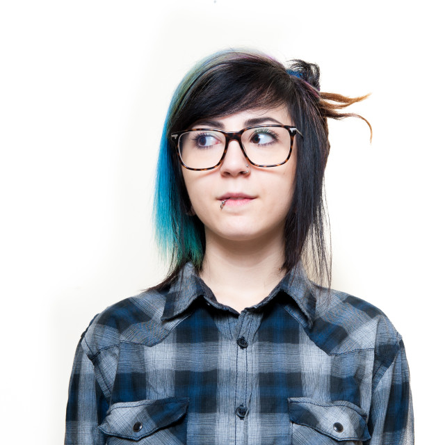 """Young alternative girl neutral portrait"" stock image"