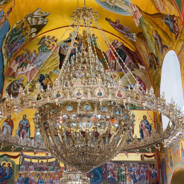"""""""Monastery of Agios Gerassimos"""" stock image"""