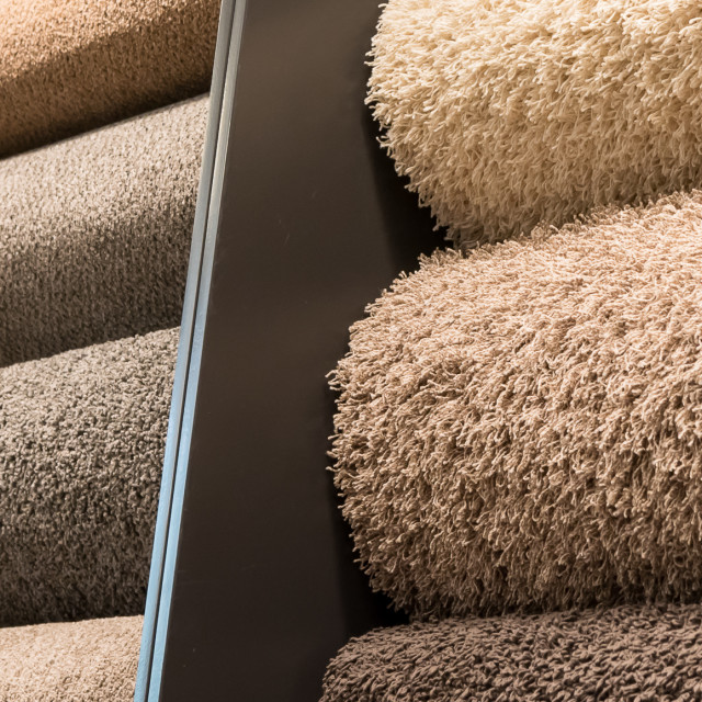 """Carpet rolls"" stock image"