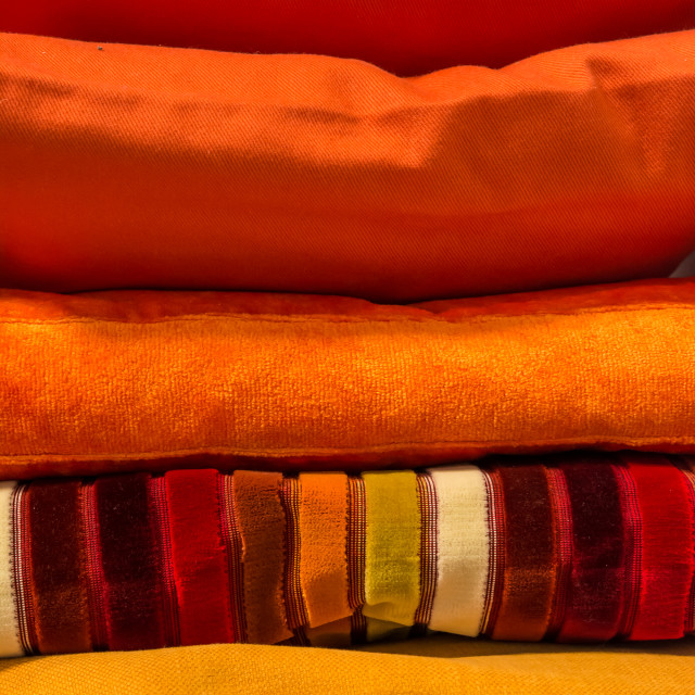 """Colored pillows"" stock image"