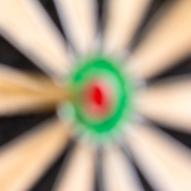 """Dart on target, bullseye"" stock image"