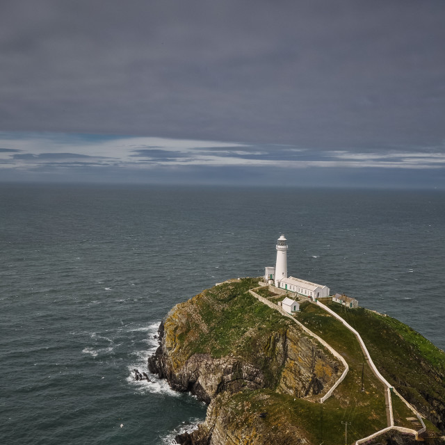 """""""North Stack Lighthouse"""" stock image"""
