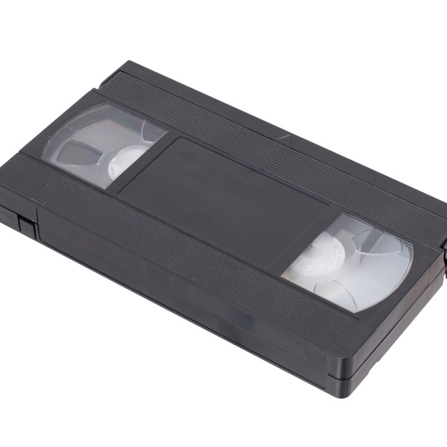 """""""Retro videotape isolated on a white background"""" stock image"""