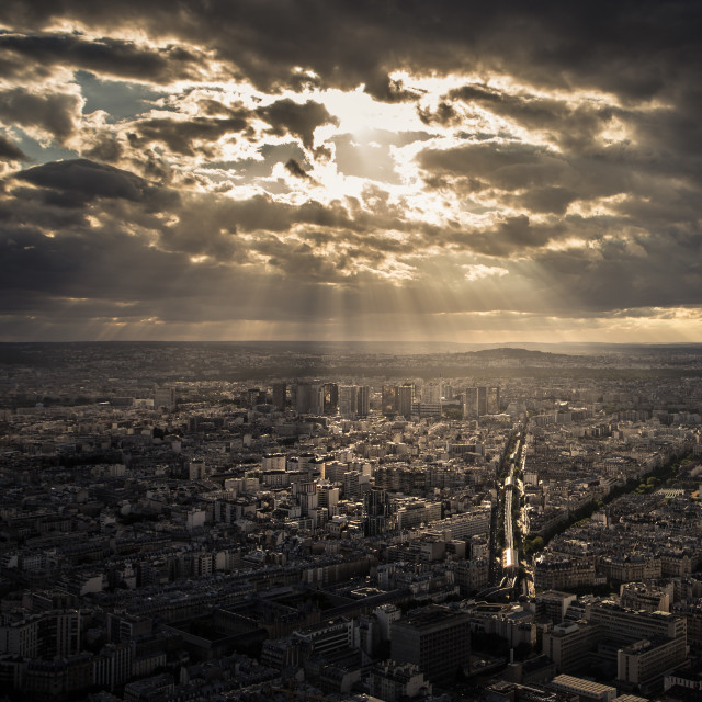 """Top View of Paris from Montparnasse"" stock image"