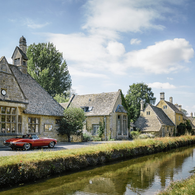 """""""Lower Slaughters, The Cotswolds"""" stock image"""