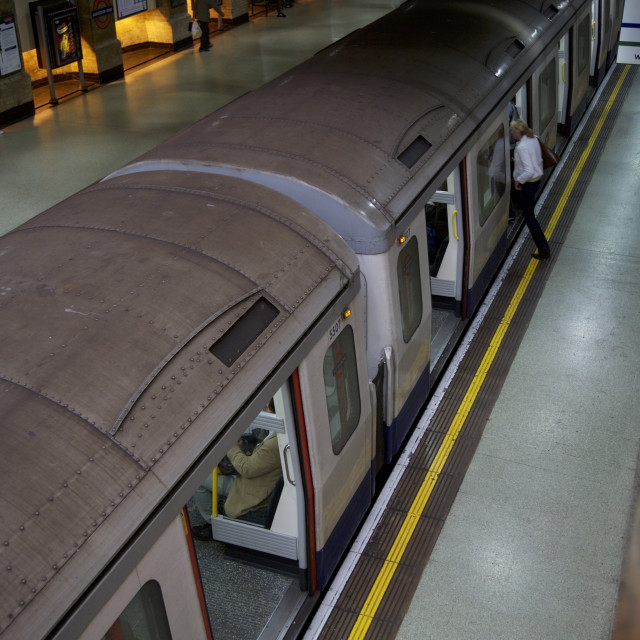 """London Train Underground Transport"" stock image"