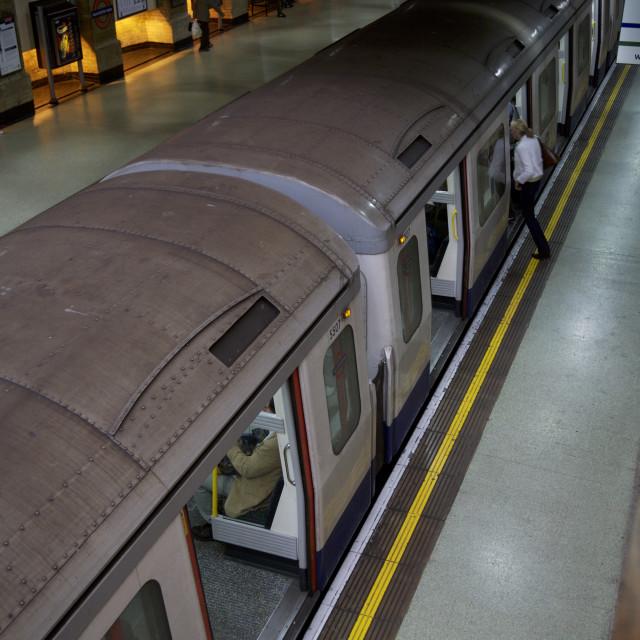 """London Train Underground Transport"" stock image"