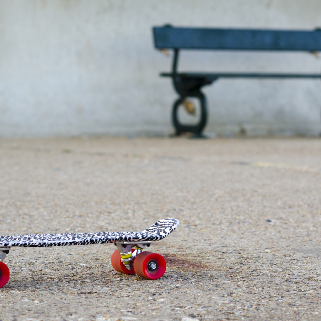 """Skateboard on a Path"" stock image"