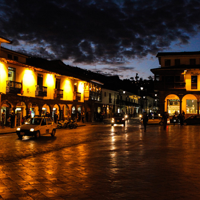 """Cusco by Night"" stock image"