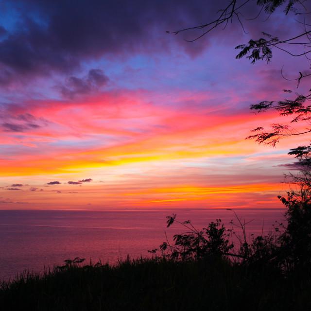 """Caribbean sunset"" stock image"