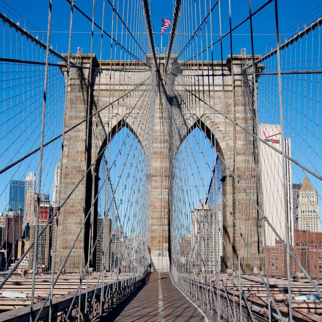 """Brooklyn Bridge perspective"" stock image"