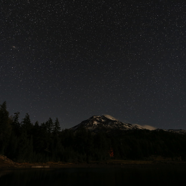 """Stars Over South Sister"" stock image"