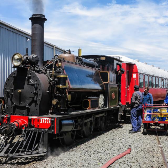 """F class steam engine"" stock image"